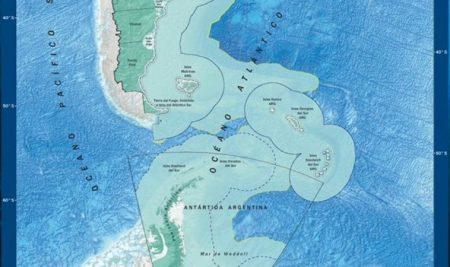 El nuevo mapa de Argentina: límites marítimos extendidos y Tierra del Fuego en el centro